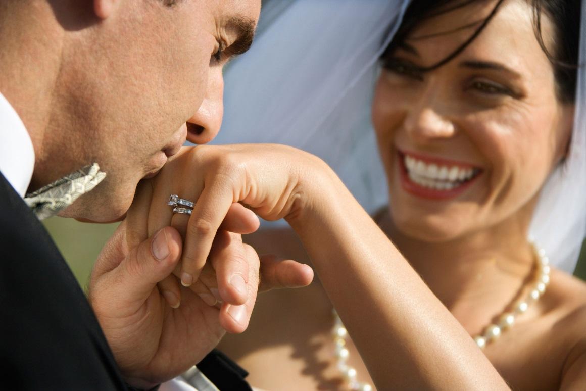Ehering und Verlobungsring