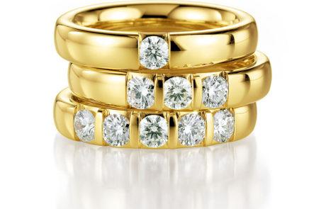 Memoire Verlobungsringe mit Diamanten