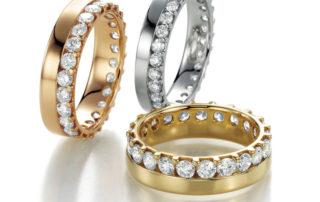 Trauringe Eheringe Gold mit Brillanten
